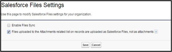 Salesforce Files Settings Image