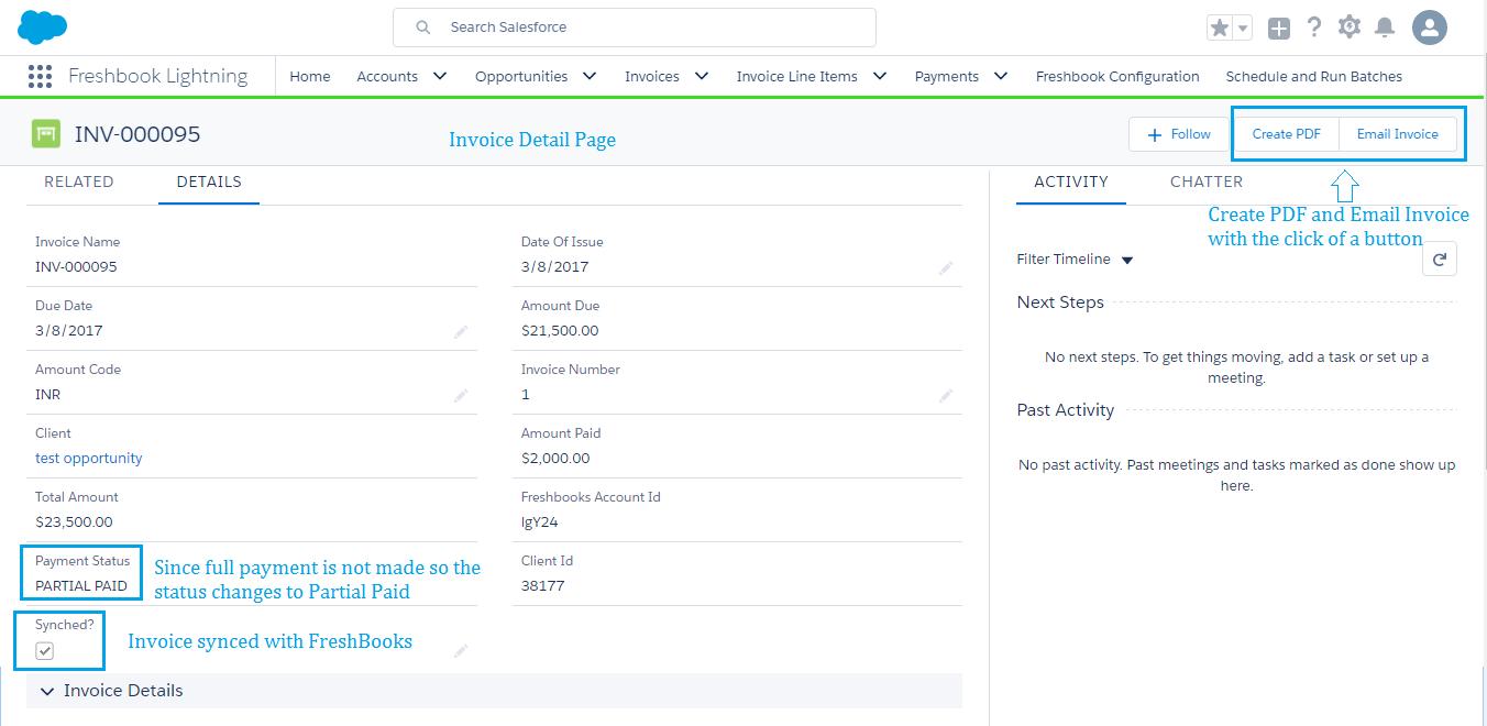 Freshbooks EasyConnect App Screenshot