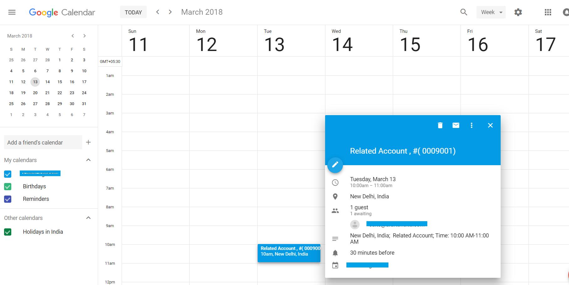 Google Calendar Event image