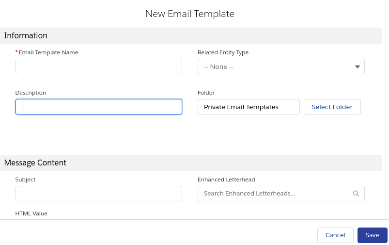 Lightning Email Template