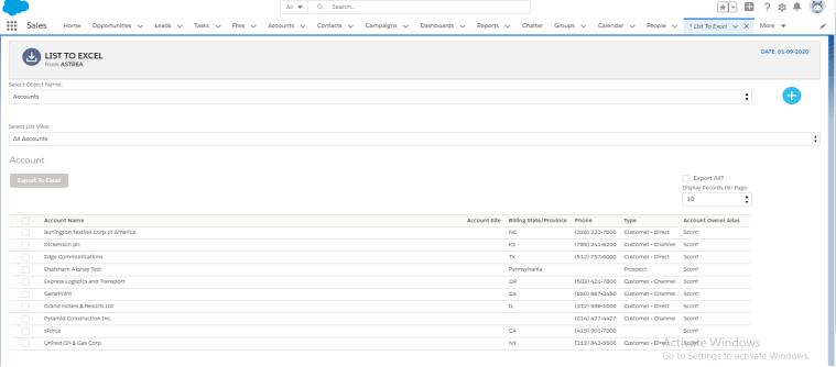 List2Excel-For-Salesforce-Communities