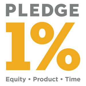 Pledge 1% badge logo