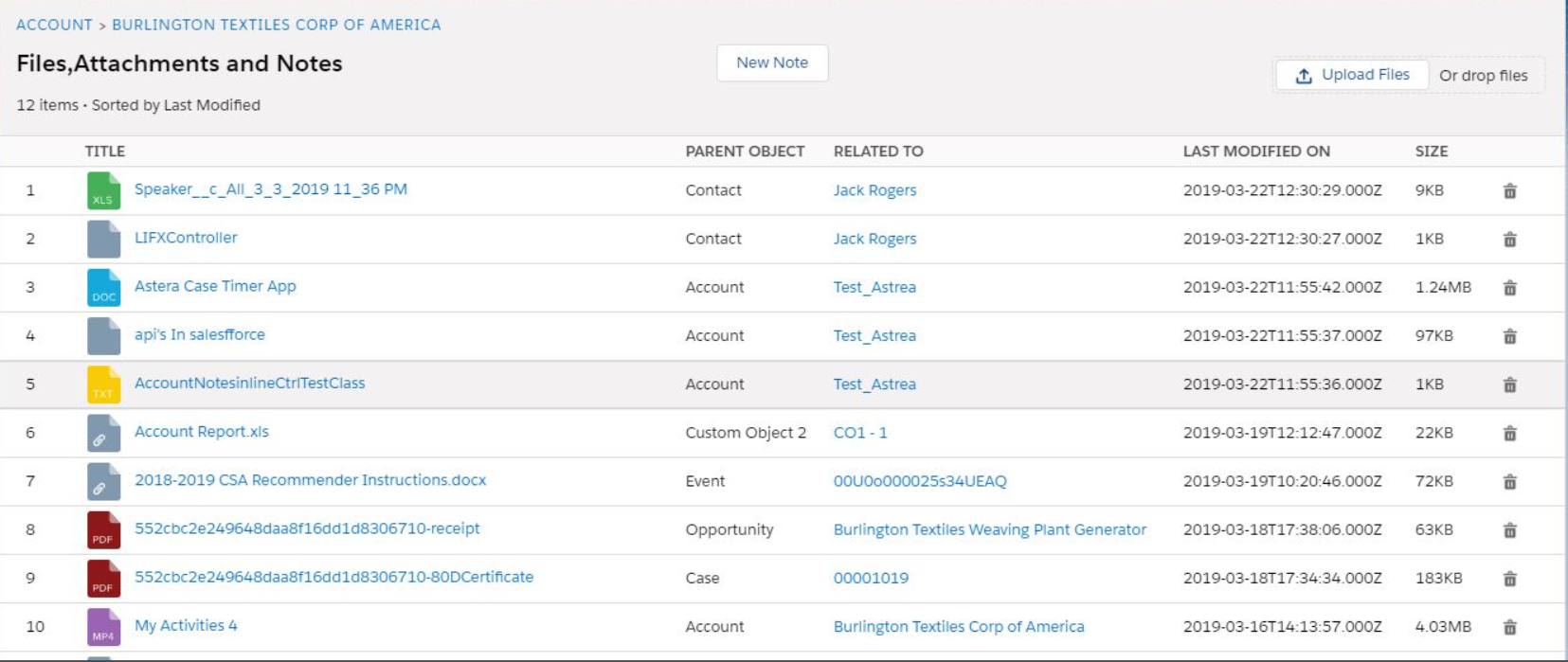 Rollup Files | Notes And Attachments Salesforce | Lightning