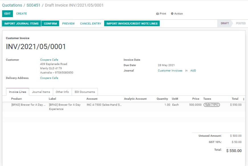 Odoo Sales Module Screenshot 5