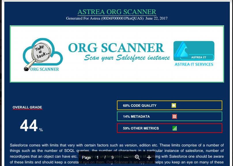Org Scanner Screenshot
