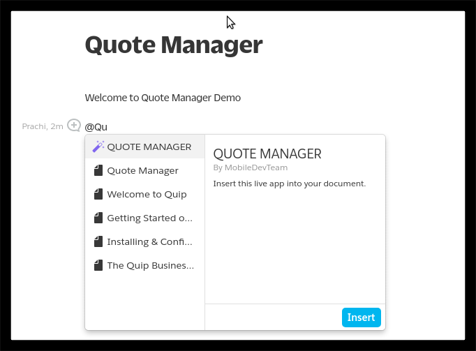 Quote Manager For Quip image1