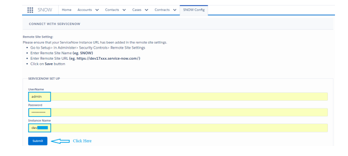 Service Now Screenshot