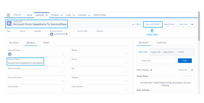ServiceNow QuickConnect Salesforce Application | astreait com