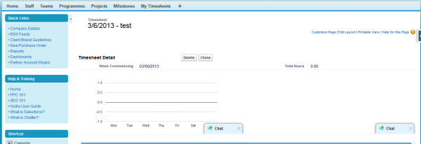 Time sheet entry system image1