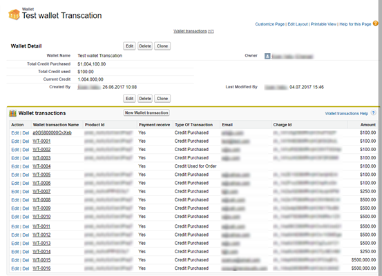 Wallet Transaction Records Creation