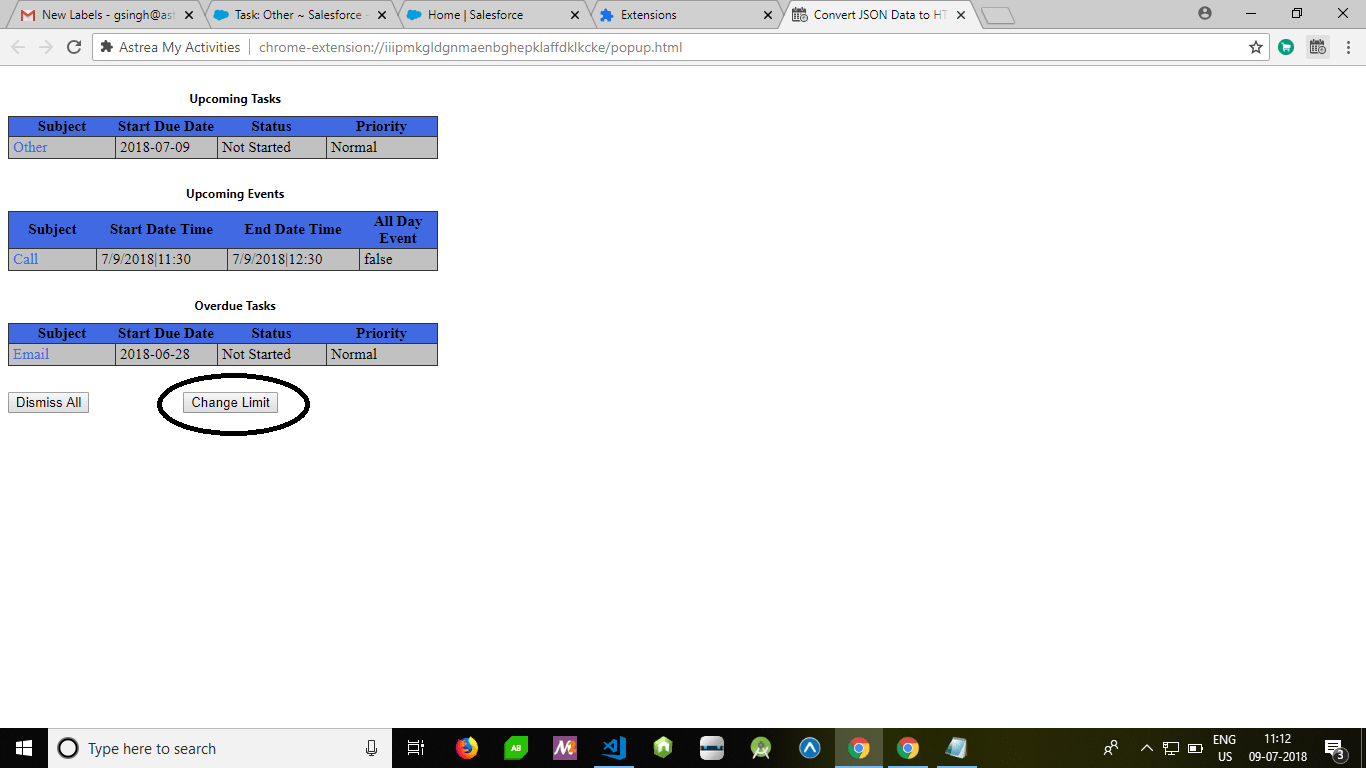 Astrea_My_Activities_Chrome_Extension