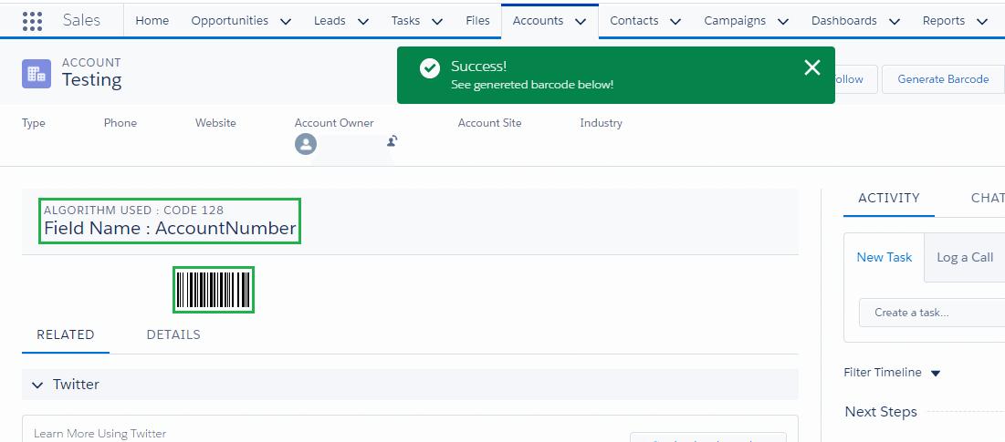 Barcode desktop user image