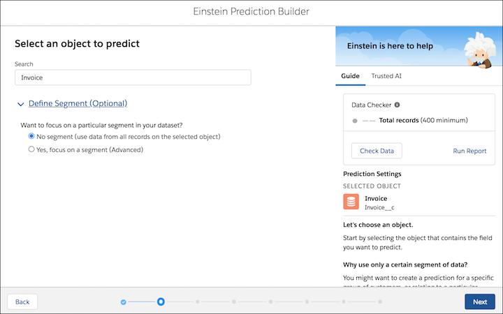 einstein prediction builder screenshot 2