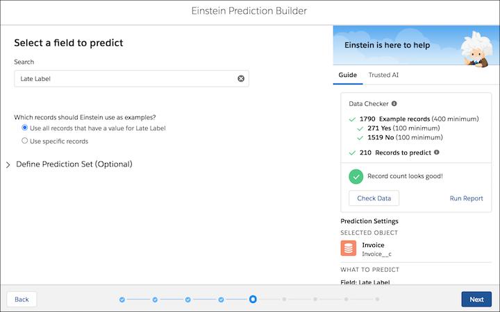 einstein prediction builder screenshot 6