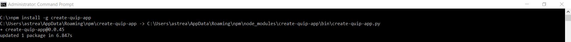 quip install